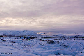 Sunrise over the mountains of the upper Ribdon River in the Arctic National Wildlife Refuge.