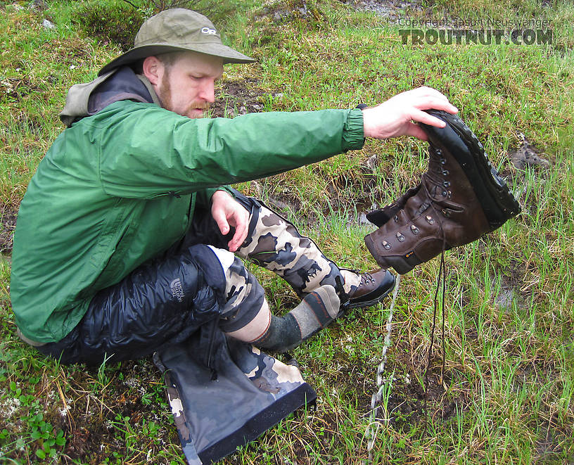 Where are chest waders when you need them? From Clearwater Mountains in Alaska.