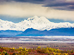 Mount Hayes viewed across the Susitna Valley From Denali Highway in Alaska.