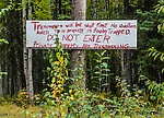 I felt an overwhelming urge to obey this sign. From Cache Creek Road in Alaska.