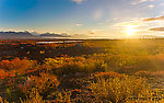Sunrise. A promising start to the weekend From Denali Highway in Alaska.