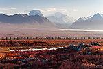 Mt Deborah (left) and Hess Mountain (right) From Denali Highway in Alaska.