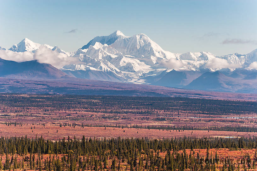 Mt Hayes From Denali Highway in Alaska.