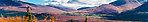 Valdez Creek valley viewed from across the Susitna From Denali Highway in Alaska.