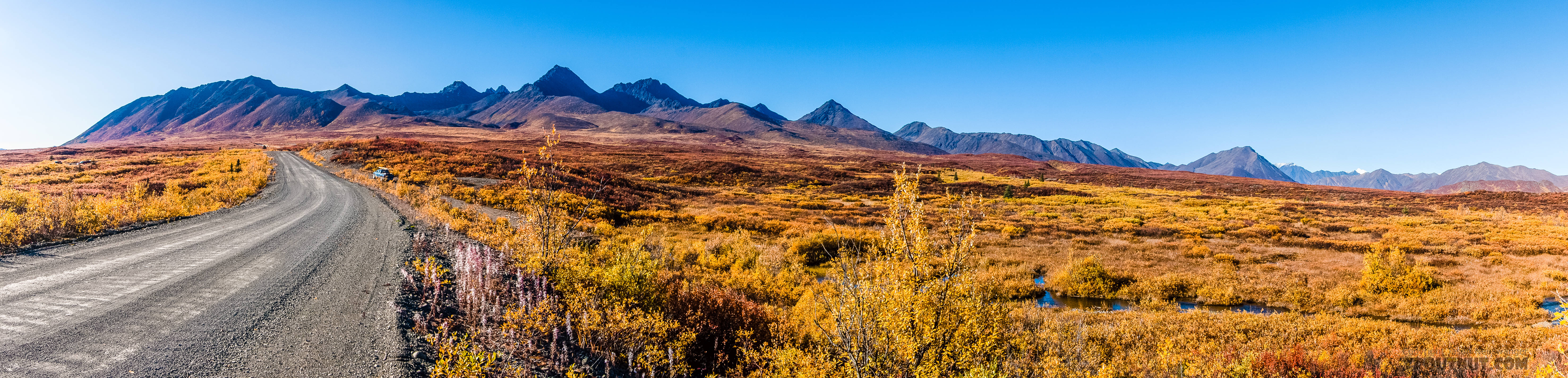 Looking back at the Clearwater Mountains from the east From Denali Highway in Alaska.