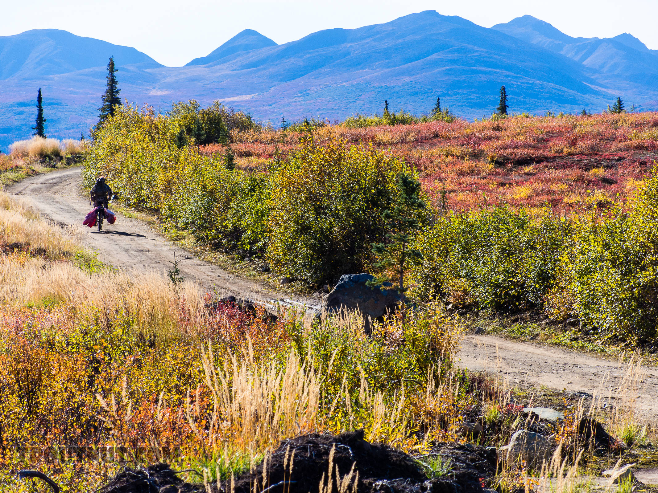 Riding out 2 From Clearwater Mountains in Alaska.