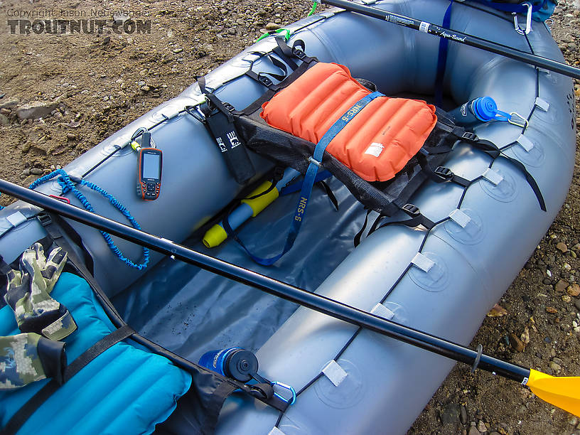 Close-up of gear setup From the Chena River in Alaska.