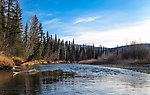Floating down the North Fork From the Chena River in Alaska.