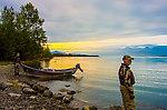 Put-in at Skilak Lake From the Kenai River in Alaska.