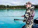 Dad fishing the Kenai From the Kenai River in Alaska.