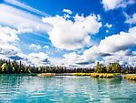 Slow backwater From the Kenai River in Alaska.