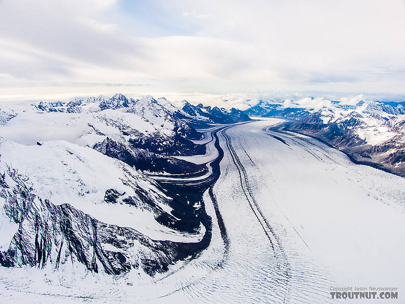 Kahiltna Glacier From Denali National Park in Alaska.