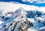 14573 ft Mt Hunter From Denali National Park in Alaska.
