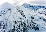 Kahiltna Peaks From Denali National Park in Alaska.