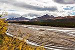 Teklanika River From Denali National Park in Alaska.
