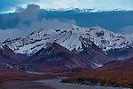 Mountain at dusk From Denali National Park in Alaska.