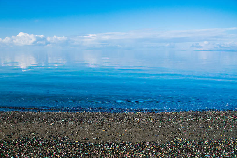 Vanishing horizon in the Chukchi Sea From Kotzebue in Alaska.