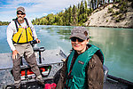 Motoring up the Kenai River with Perry From the Kenai River in Alaska.