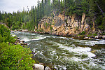 Canyon Rapids From the Gulkana River in Alaska.
