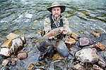 A 17-inch rainbow I caught Thursday evening From the Gulkana River in Alaska.