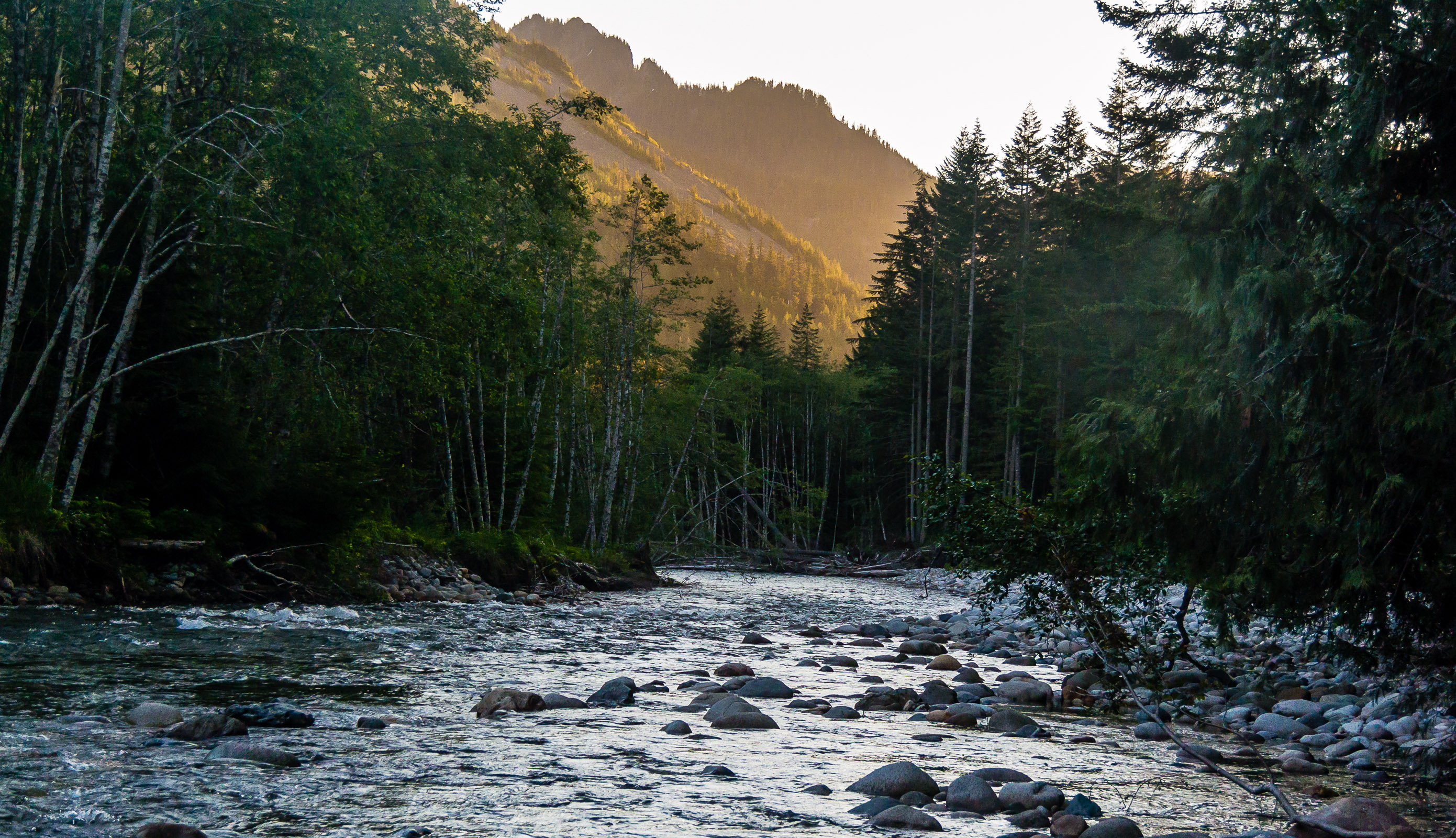 From the South Fork Snoqualmie River in Washington.