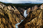 Grand Canyon of the Yellowstone From the Yellowstone River in Wyoming.