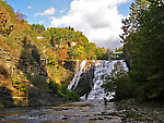 This waterfall is less than half a mile from the Cornell University campus. From Fall Creek, Ithaca Falls in New York.