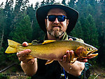 My nicest Westslope cutthroat to date (17 inches) struck an unfortunate dead-looking eyeball pose in this photo, but I promise it was released healthy and vigorously swam away. From the North Fork Couer d'Alene River in Idaho.