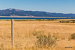 View back toward Henry's Lake from the road that heads west toward the Centennial Valley From Henry's Lake in Idaho.