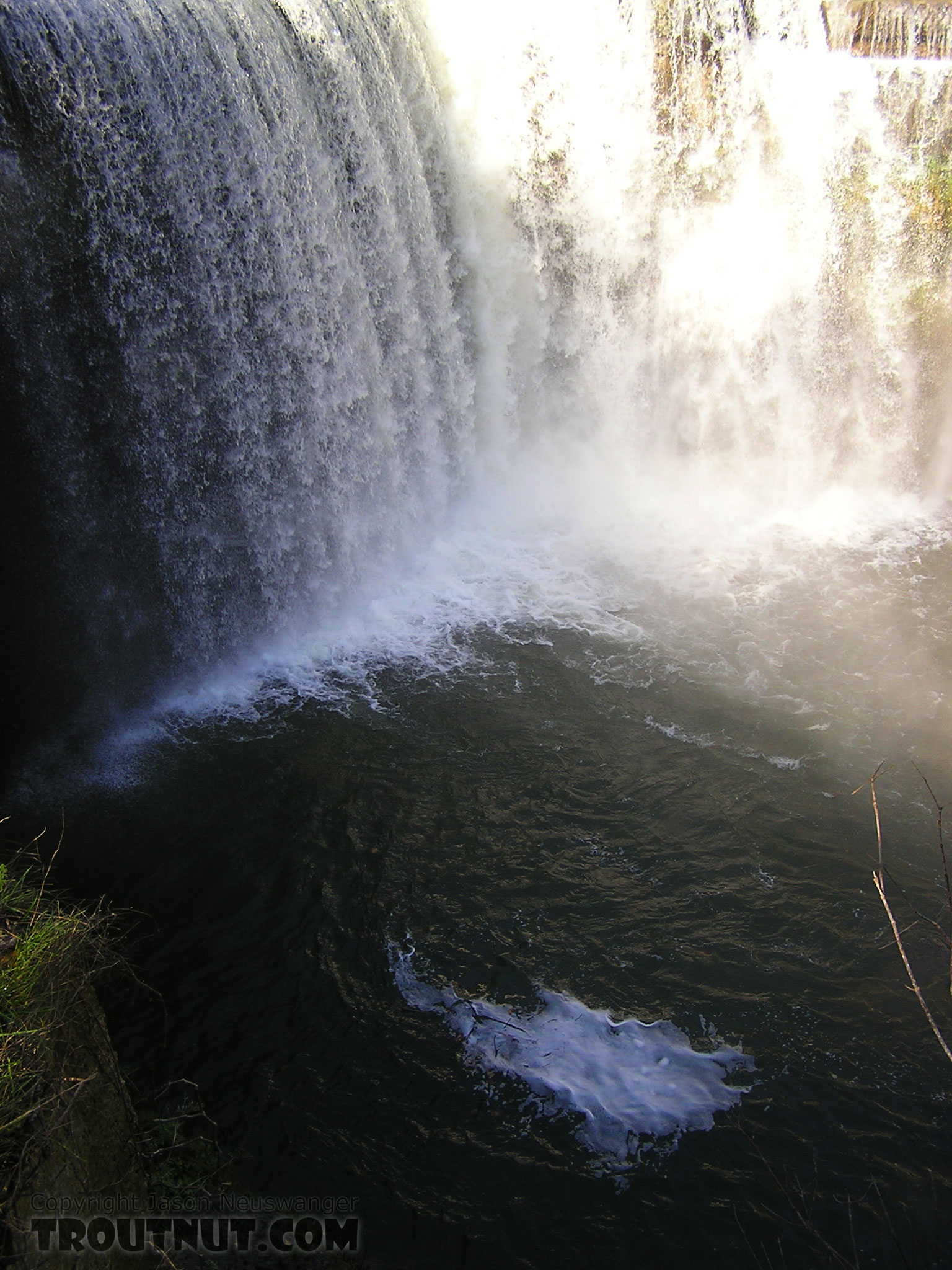 Many Finger Lakes tributaries have impressive waterfalls, but this is one of the best.  The plunge pool is extremely deep and often holds nice fish. From Salmon Creek, Ludlowville Falls in New York.