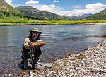 First fish on my new Sage -- native Yellowstone cutthroat From Slough Creek in Wyoming.