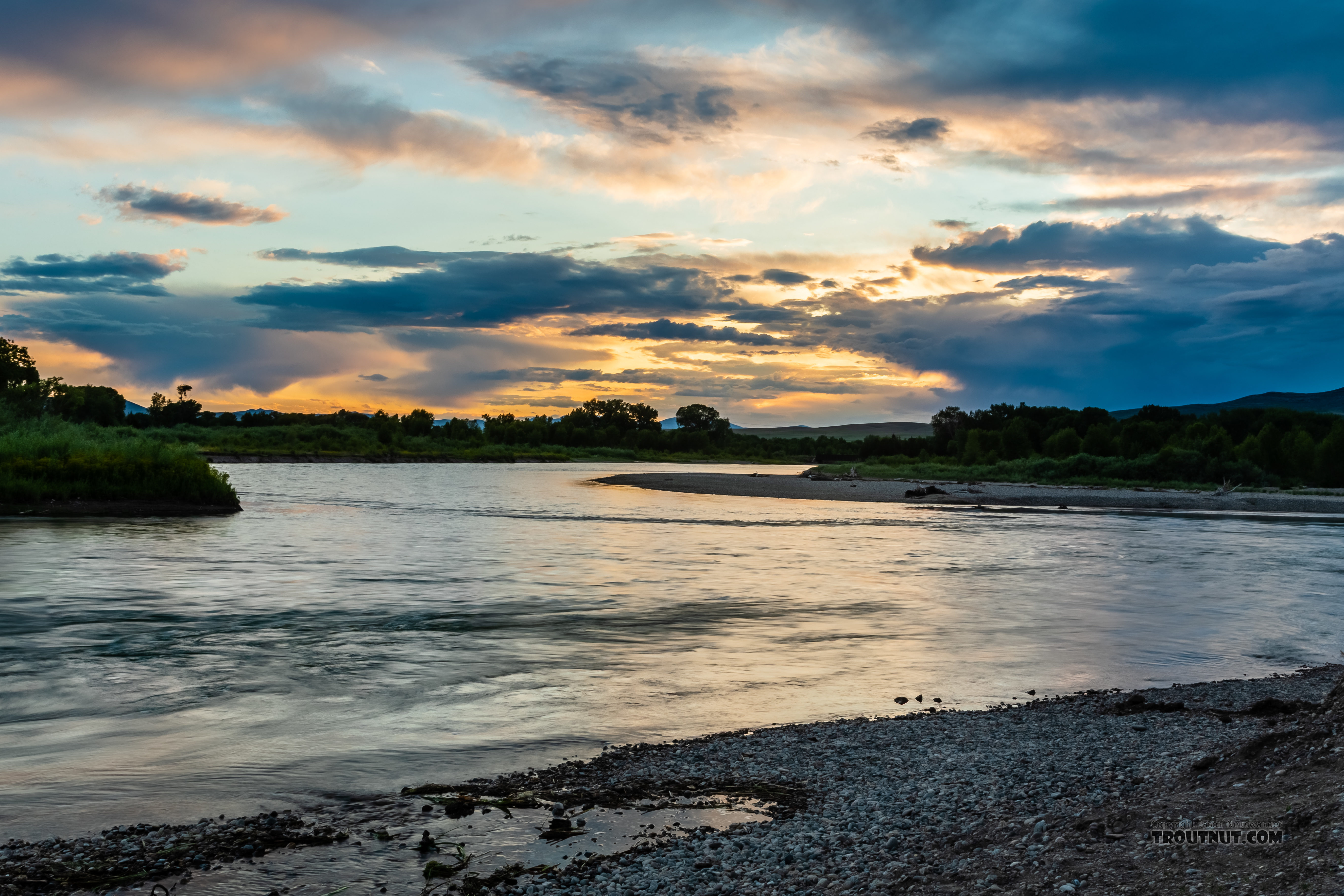 Missouri River origin (Madison and Jefferson junction) From the Missouri River in Montana.