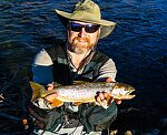 My first Bonneville Cutthroat (17 in) From the Mystery Creek # 274 in Wyoming.
