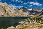 Upper Titcomb Lake From Titcomb Basin in Wyoming.