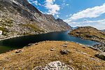 Mistake Lake From Titcomb Basin in Wyoming.