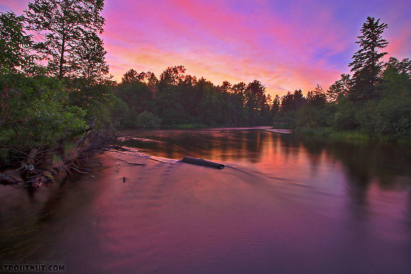 I captured this sunset over one of my favorite holes. From the Namekagon River in Wisconsin.