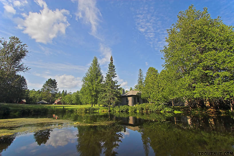 This incredibly expensive estate holds most of the land on a prime upper stretch of one of the midwest's best trout streams, and it's the envy of hundreds of anglers who float by it every summer. From the Bois Brule River in Wisconsin.