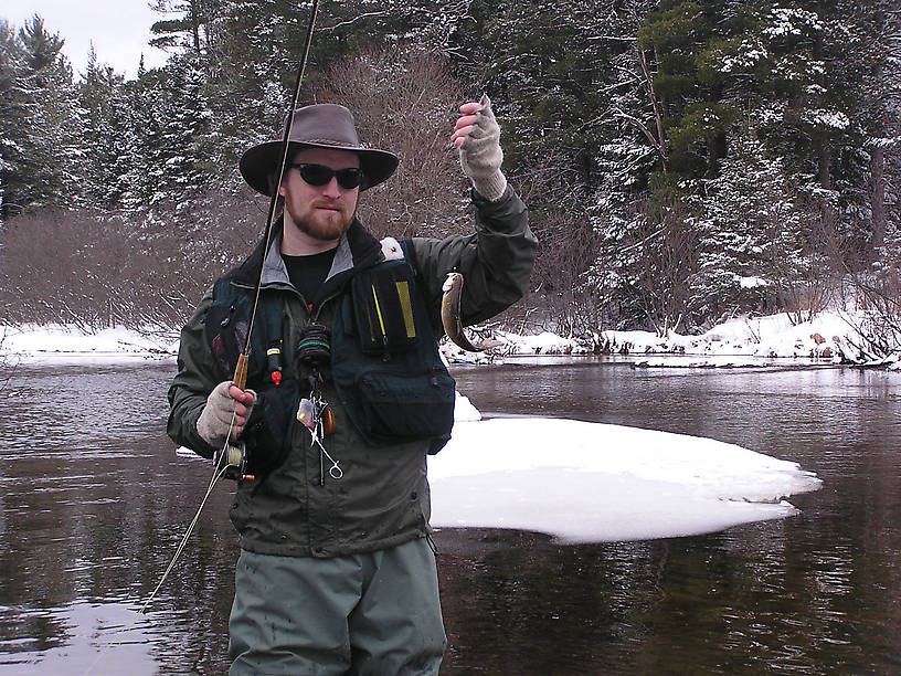 This opening day brook trout was one of my first of 2004. From the Mystery Creek # 19 in Wisconsin.