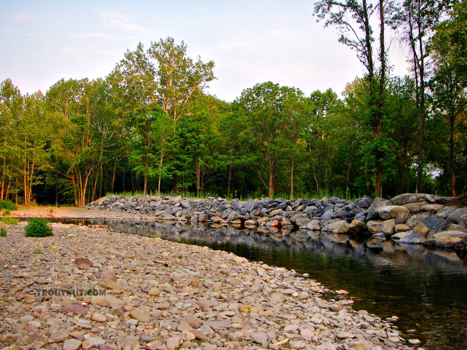 From Brodhead Creek in Pennsylvania.
