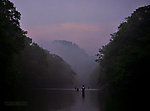 I was stuck sharing a long pool with several other fishermen on this popular spring creek, but I had the best fishing (the tail of the pool) all to myself, because it took the most walking to get there.  The dusk hatch was extremely intense, complex, and difficult. From Penn's Creek in Pennsylvania.