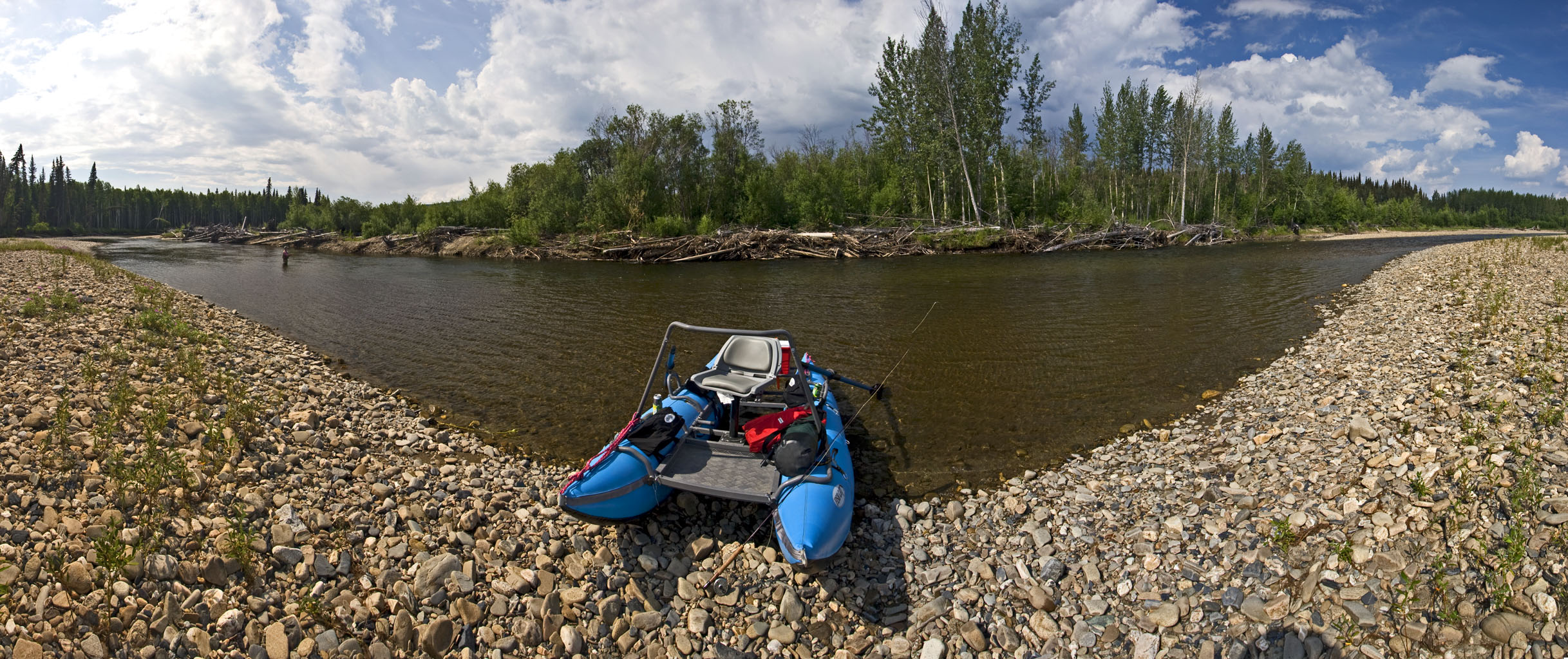 From the Chena River in Alaska.