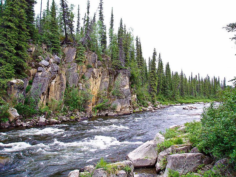 From the Gulkana River in Alaska.