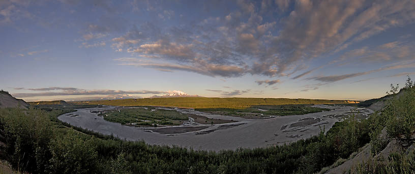 Another panorama of the huge Copper River. From the Copper River in Alaska.