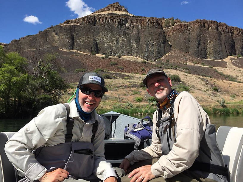 Marv and Lou on the Deschutes