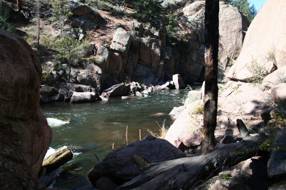 This is the pool where I landed my first two Cheeseman Canyon trout