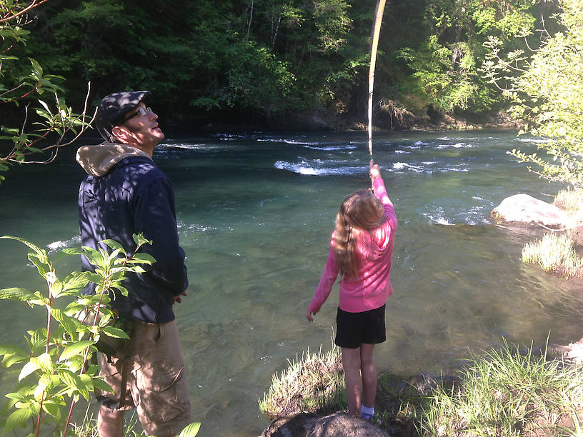 Casting Lessons With My Daughter