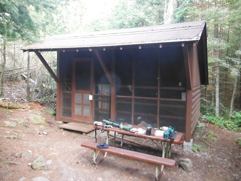 Shelter in which I stayed at Three Mile campground