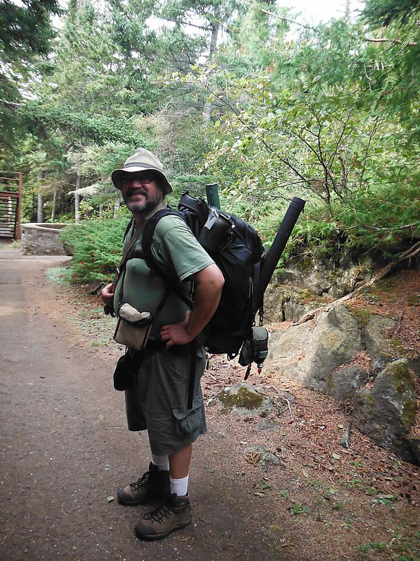 WAAAAAAAY overloaded backpacker!