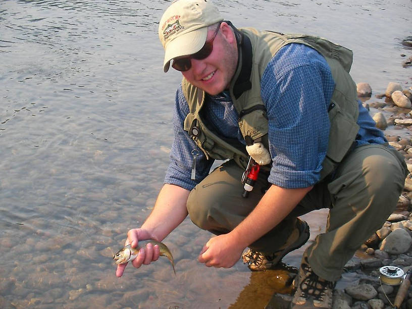 My first ever Yellowstone cutthroat from the Soda Butte.  Or is that a cutbow?  Still pretty no matter what you call it.  Got him down and dirty with a green caddis nymph just off the NE entrance road.