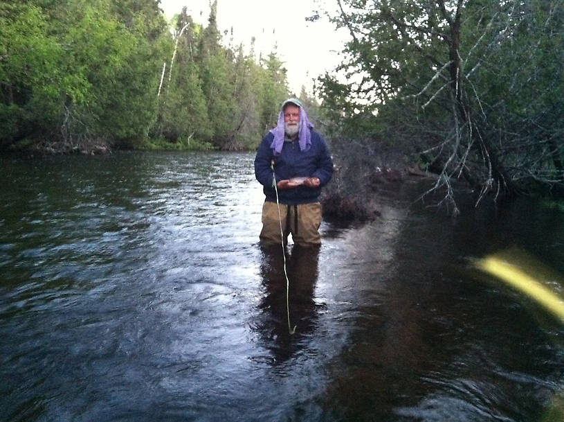 "My friend George and his dry-fly 14""er."
